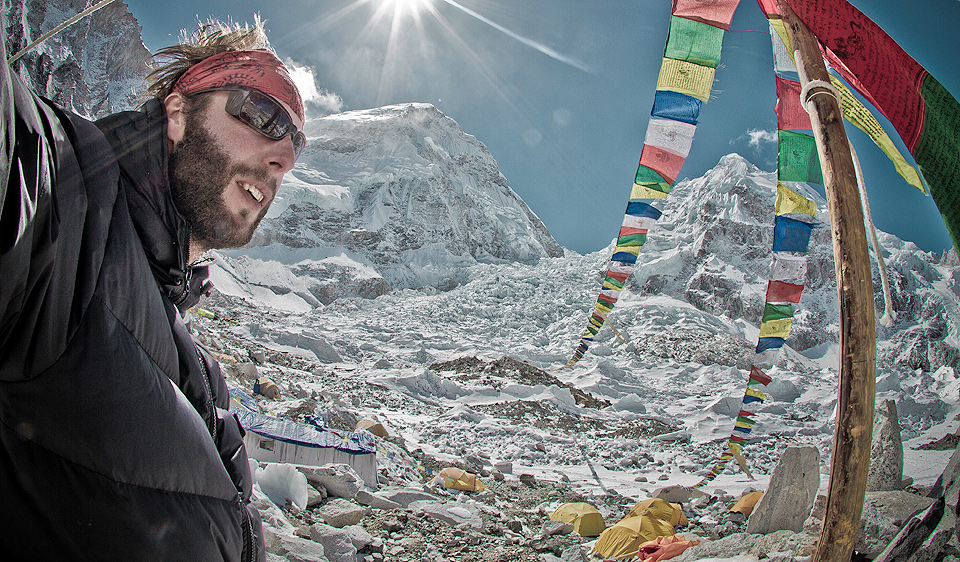Phil Akashi at the Everest Basecamp - Nepal