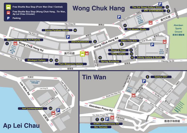 Phil Akashi Studio Map Art Basel Hong Kong 2014